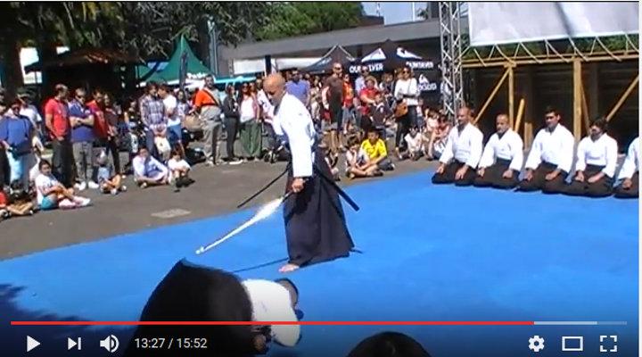 demostración de aikido en metrópoli gijón 2016