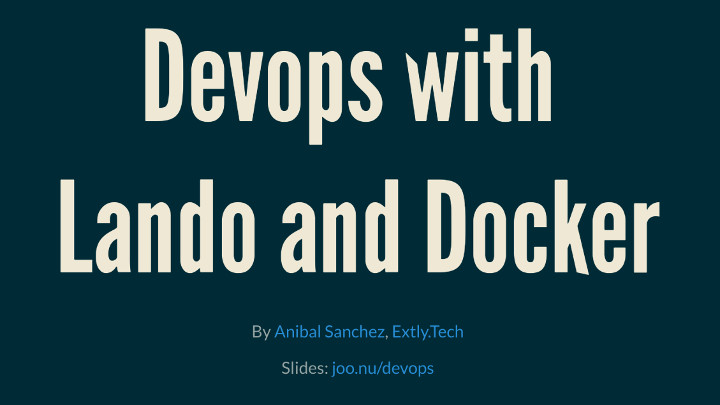 devops with lando and docker for Joomla