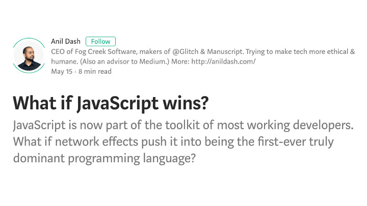 recommended reading what if javascript wins